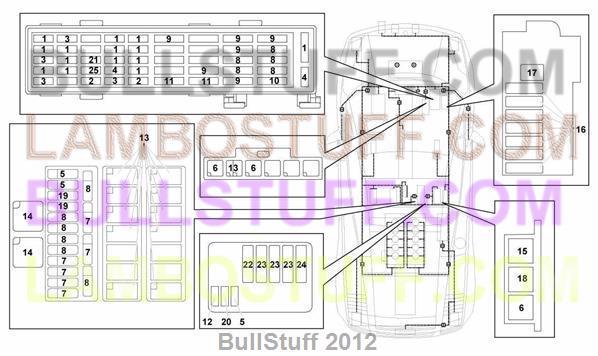 2007 lamborghini gallardo spyder arabia electrical system (971.09.00)  bullstuff