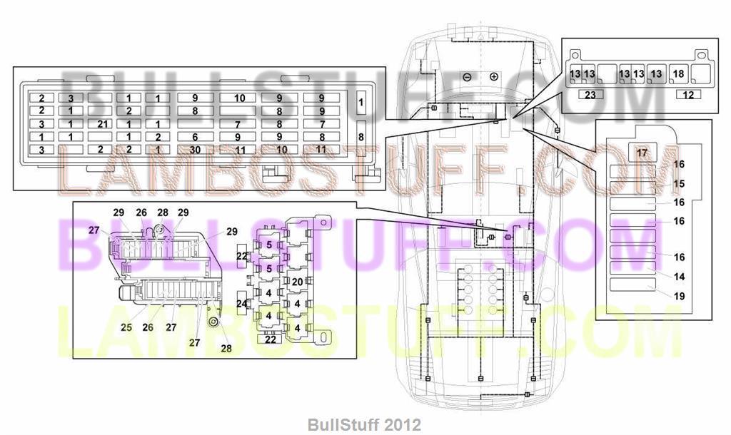 2012 lamborghini gallardo lp 560-4 spyder arabia electrical system  (971.12.00)  bullstuff