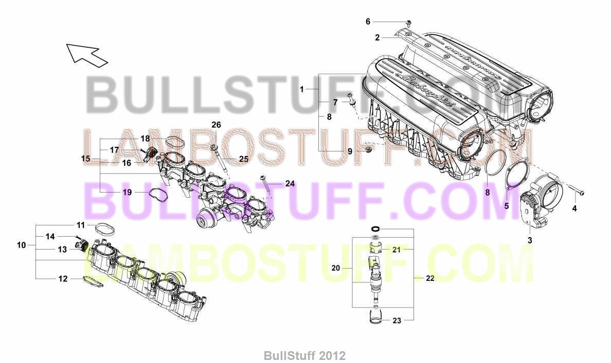 2014 Lamborghini GALLARDO LP 5502 COUPE ARABIA INTAKE MANIFOLD – Lamborghini Gallardo Engine Diagram