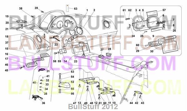 2005 Lamborghini Murcielago Roadster Canada Dashboard Instruments
