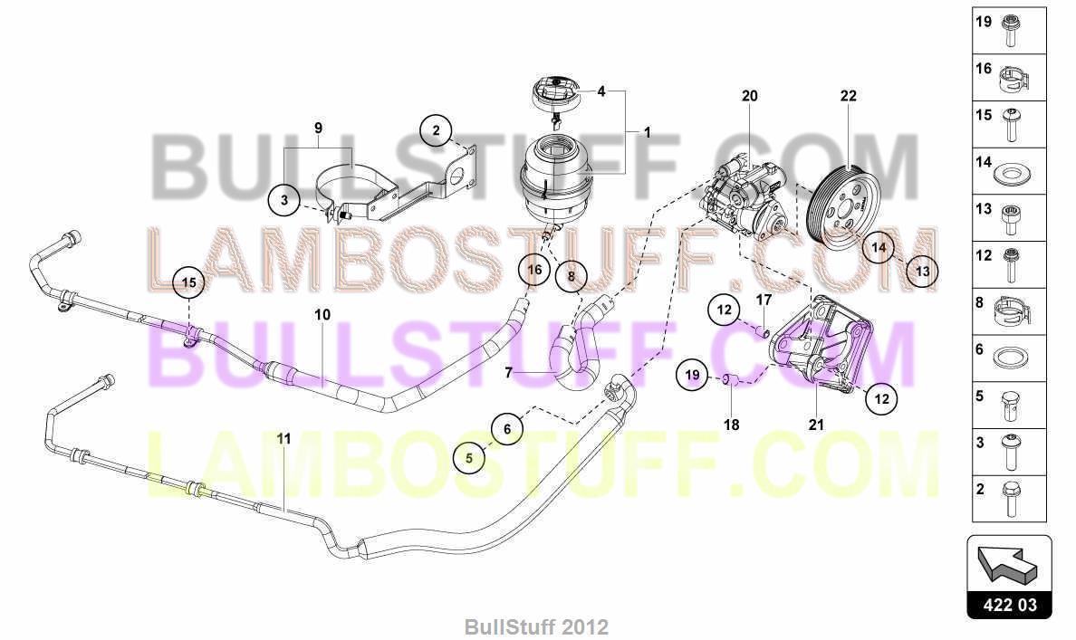 2012 Lamborghini Aventador Lp700 4 Coupe Canada Power Steering Vane Pump Diagram 4220300