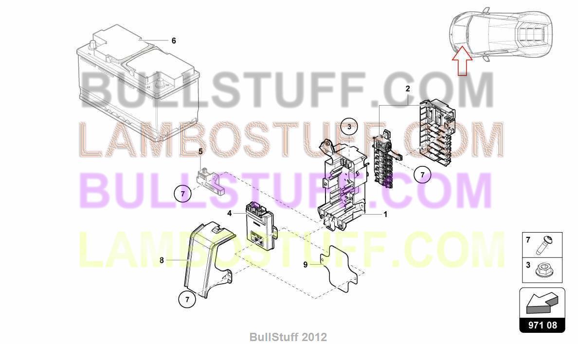 England Fuse Box Simple Wiring Diagram 2017 Lamborghini Huracan Lp580 2 Coupe 971 08 00 Layout For Hexagonal