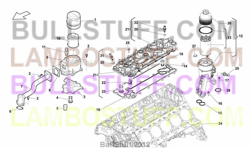 2009 Lamborghini GALLARDO LP 5604 COUPE EUROPE OIL FILTER 1150100 – Lamborghini Gallardo Engine Diagram