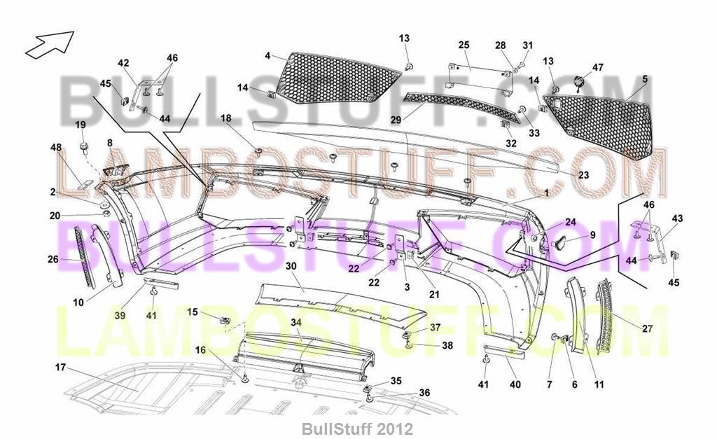 2014 Lamborghini GALLARDO LP 5502 COUPE EUROPE FRONT BUMPERS – Lamborghini Gallardo Engine Diagram