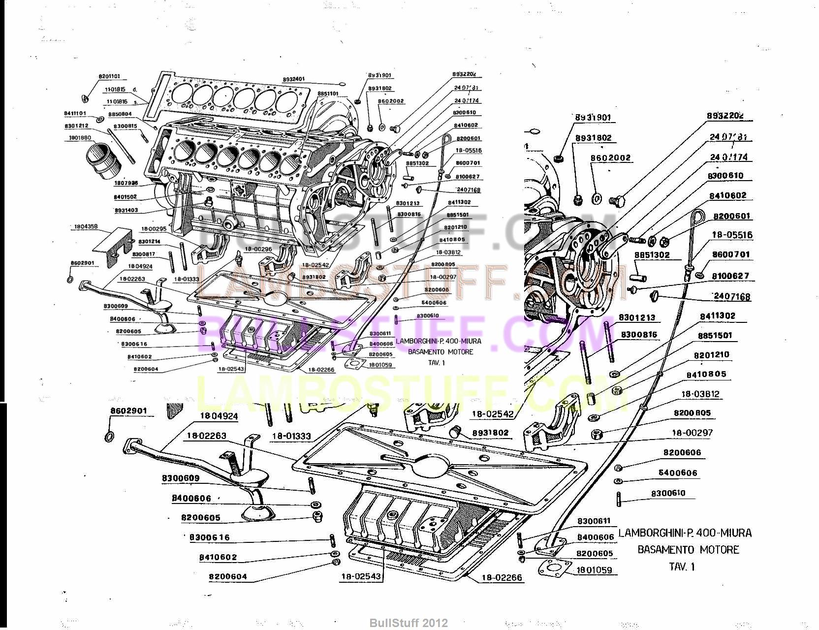 1966 1972 lamborghini miura usa engine (1) bullstuff Lamborghini Electrical Diagram Lamborghini Cooling Diagram