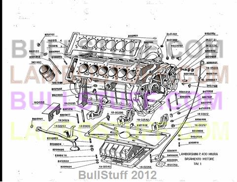 lamborghini engine diagrams 1966 1972 lamborghini miura usa engine  1   1966 1972 lamborghini miura usa engine  1