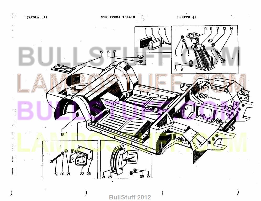 lamborghini engine diagrams 1968 1978 lamborghini espada usa frame elements  17 0 41   1968 1978 lamborghini espada usa frame