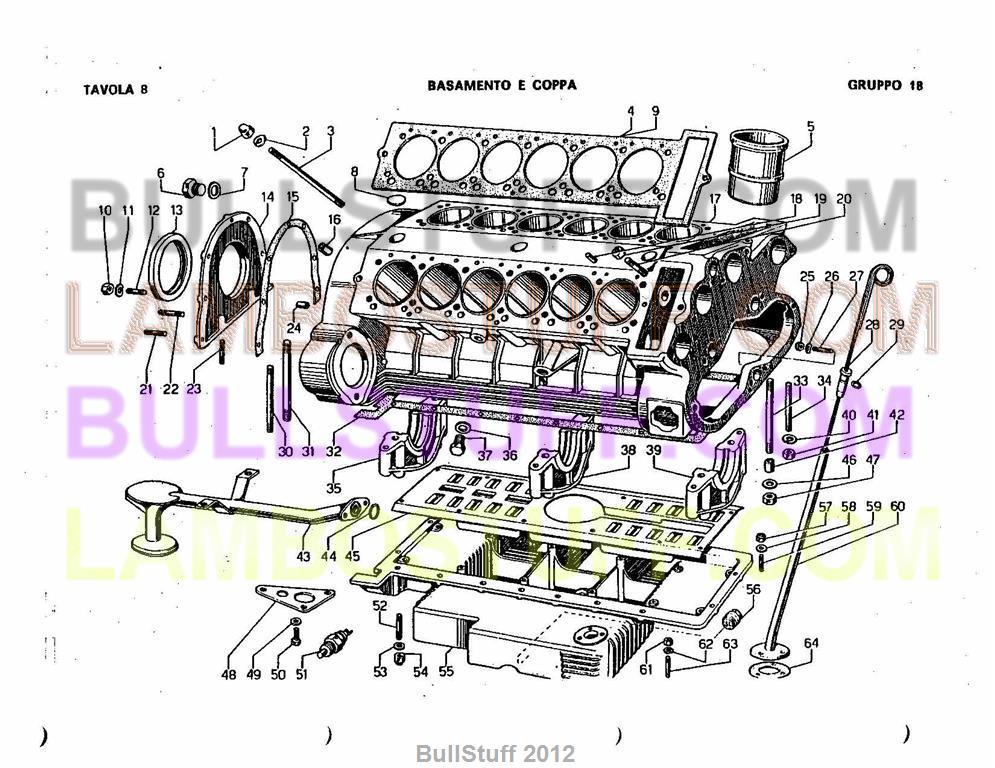 lamborghini engine diagrams 1968 1978 lamborghini espada usa engine block  8 0 18   1968 1978 lamborghini espada usa engine