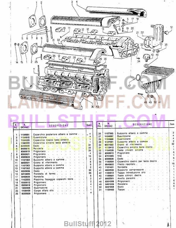 1974 1978 Lamborghini Countach LP400 USA Cylinder Heads 1 – Lamborghini Countach Wiring Diagram