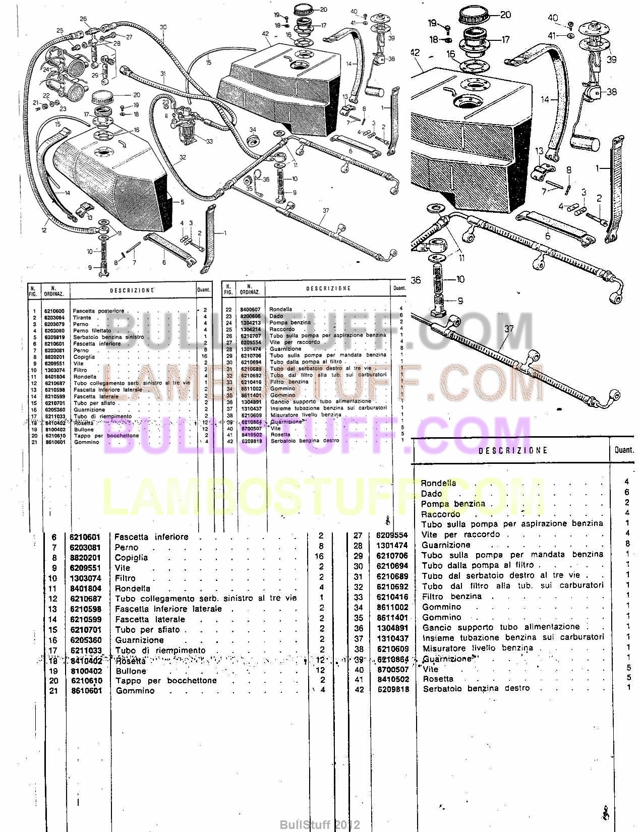 1974 - 1978 Lamborghini Countach LP400 USA Fuel system (28)