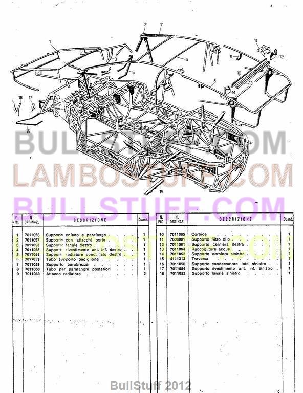 1974 1978 Lamborghini Countach LP400 USA Chassis 37 BullStuff – Lamborghini Countach Wiring Diagram