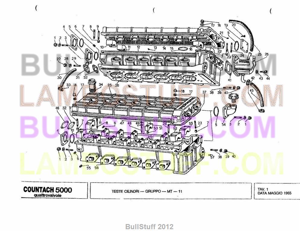 1985 Lamborghini Countach 5000 Quatro USA Cylinder Heads 1 – Lamborghini Countach Wiring Diagram