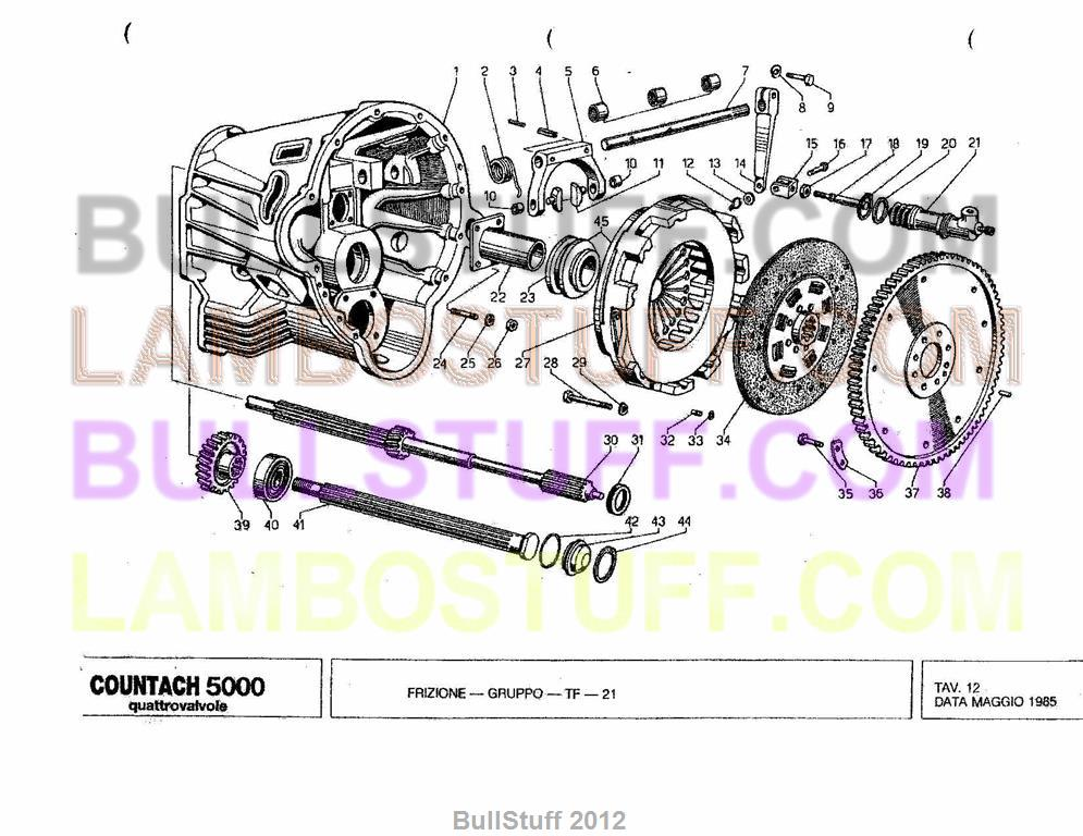 lamborghini engine diagrams 1985 lamborghini countach 5000 quatro usa clutch  12   lamborghini countach 5000 quatro usa
