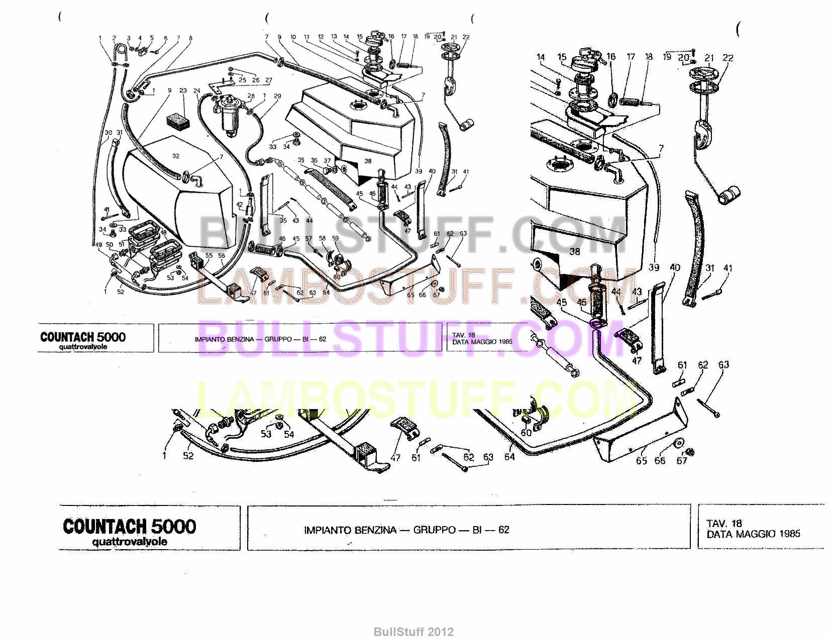 1985 Lamborghini Countach 5000 Quatro USA Fuel System 18 BullStuff – Lamborghini Countach Wiring Diagram