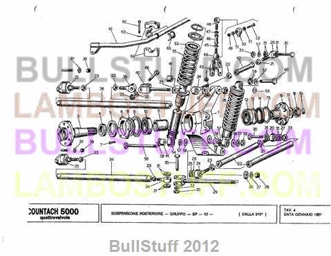 1987 Lamborghini Countach 5000 Quatro USA Rear Suspension 4 – Lamborghini Countach Wiring Diagram