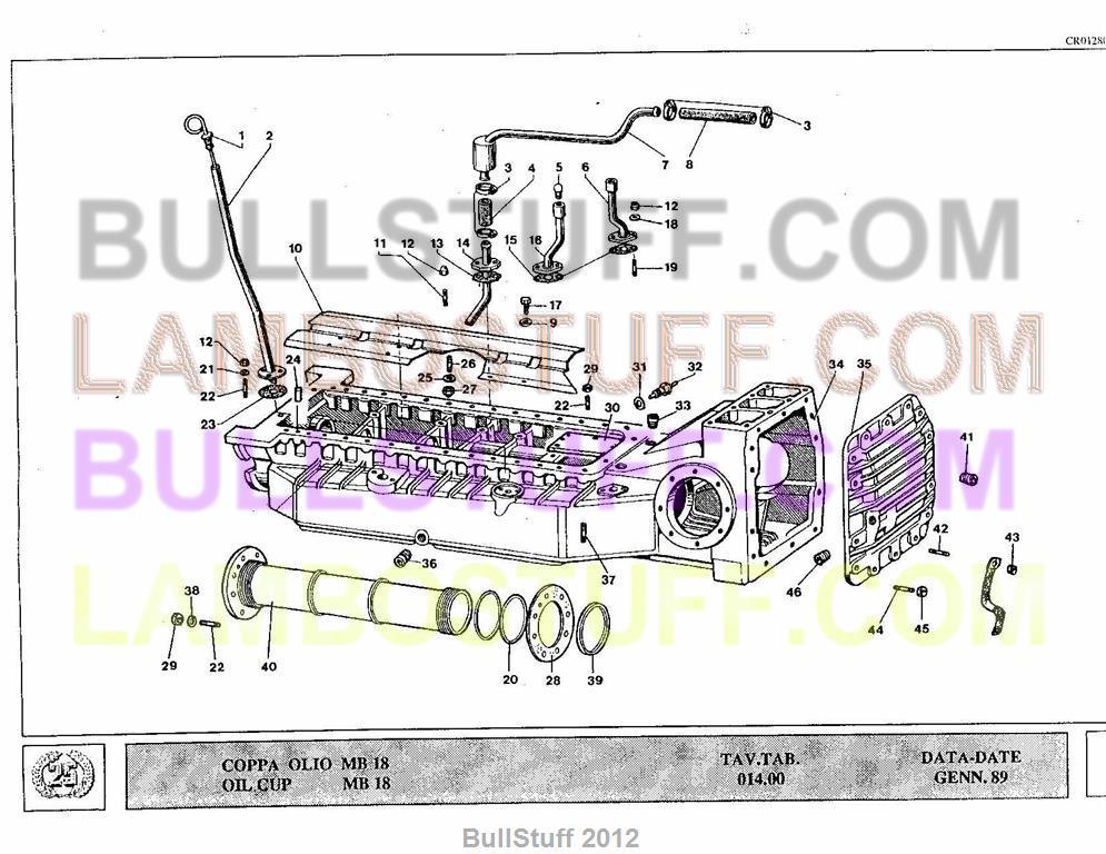 1989 lamborghini countach 25th usa oil cup bullstuff. Black Bedroom Furniture Sets. Home Design Ideas
