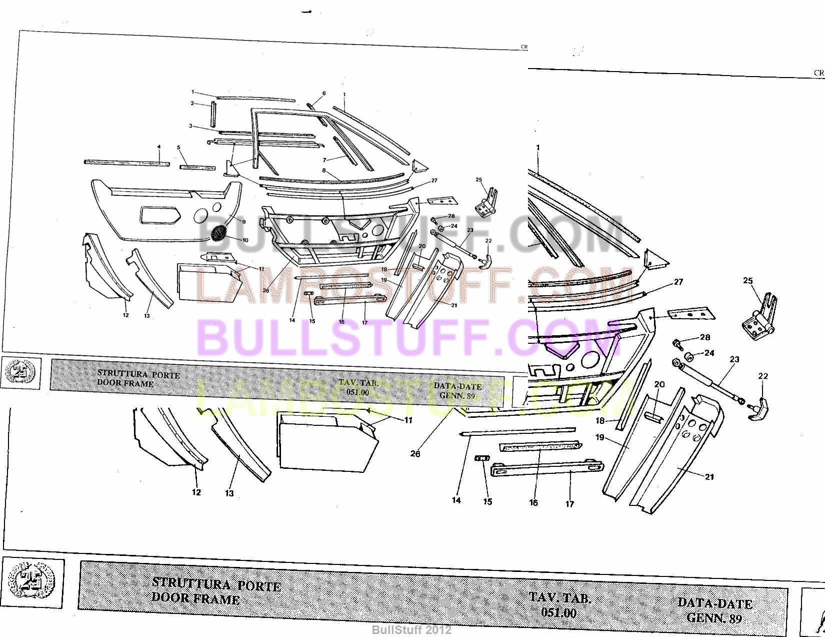 1989 lamborghini countach 25th usa door frame bullstuff. Black Bedroom Furniture Sets. Home Design Ideas
