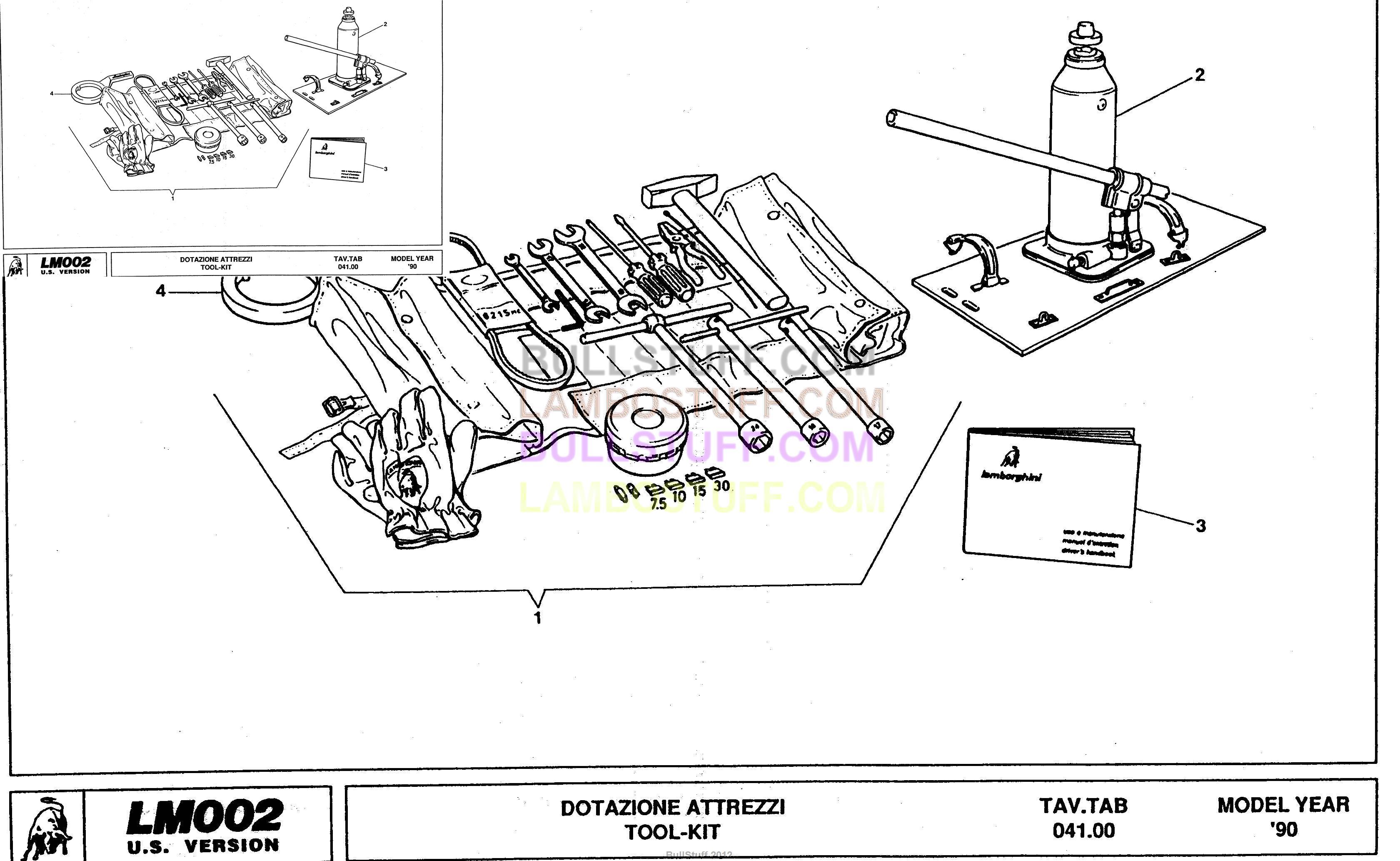 1990 Lamborghini Lm002 Usa Spec Usa Tool