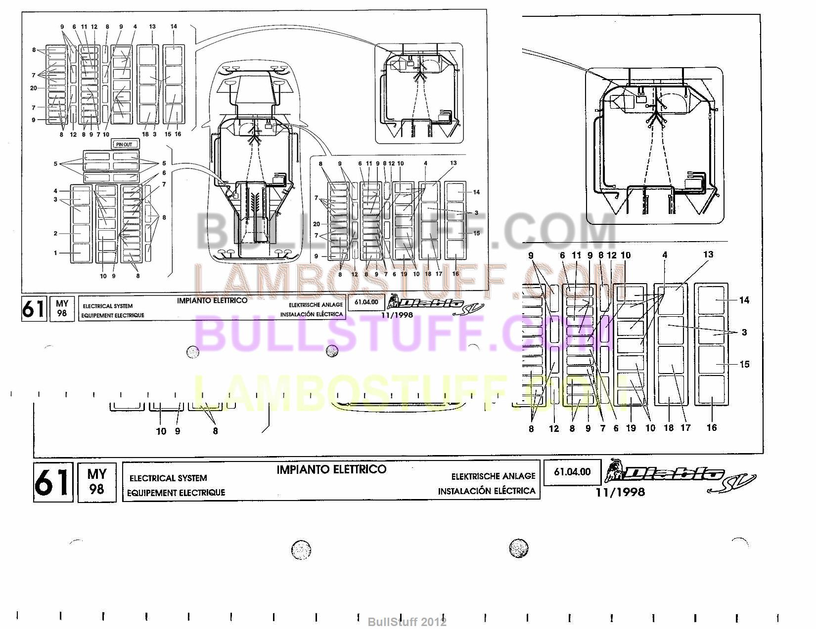 Lambo Diablo Diagram Electrical Wiring Diagrams Lamborghini Engine 1998 Sv Usa System 61 04 00 Vt Roadster