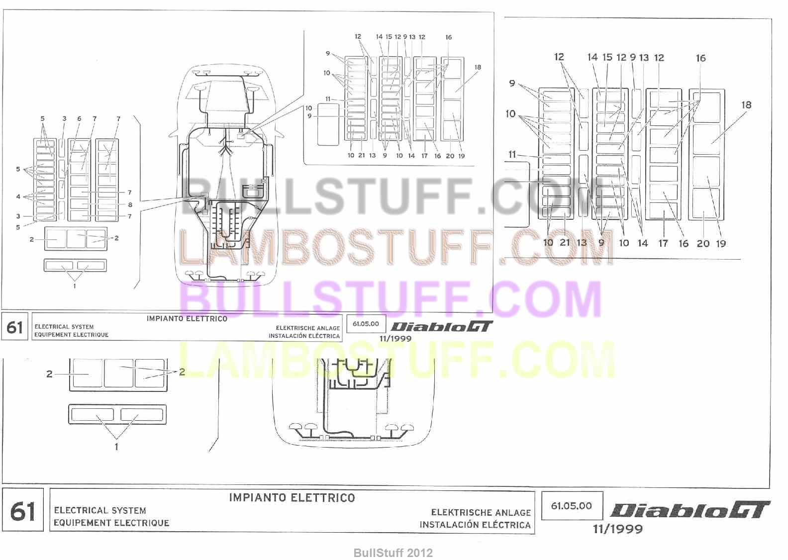Lamborghini Diablo Wiring Diagram Books Of Motorola Alternator 9db2lj2b58 1999 Gt Usa Electrical System 61 05 00 Rh Bullstuff Com