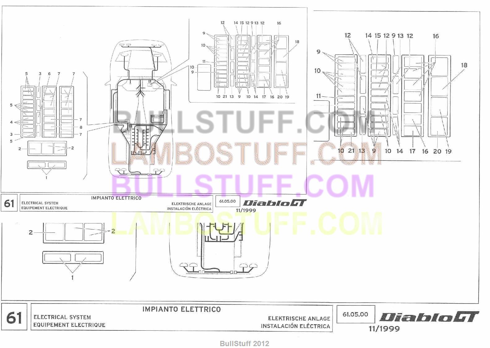 1999 lamborghini diablo gt usa electrical system 61 05 00 rh bullstuff com