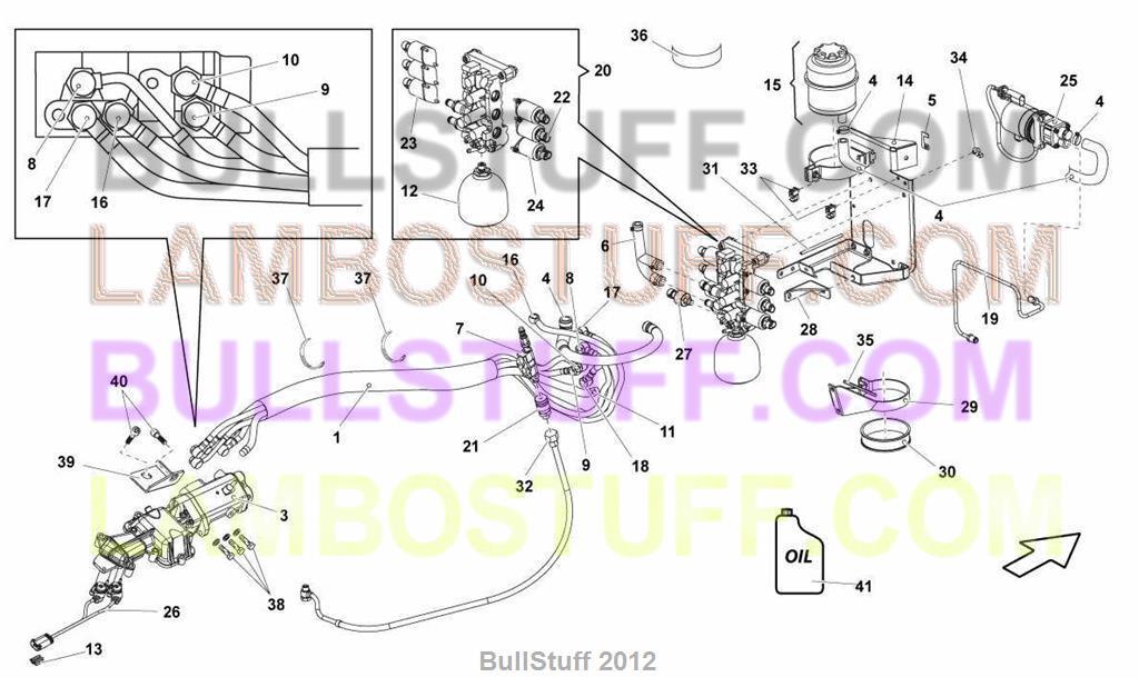 2004 Lamborghini Gallardo Coupe Usa E Gear Valves Group 301 08 00