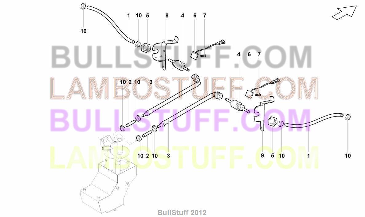 2008 Lamborghini Gallardo Spyder Usa Pcv Vent System 1170271 Fuse Box