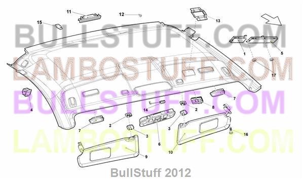 2012 Lamborghini GALLARDO LP 5502 COUPE USA ROOF PANEL – Lamborghini Gallardo Engine Diagram