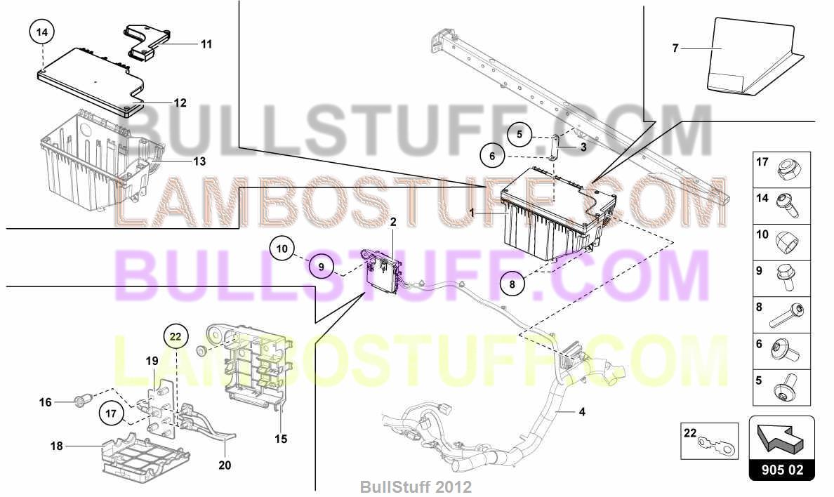 2014 Lamborghini Aventador Lp700 4 Roadster Usa Fuse Box And Ignition Emergency 9050200