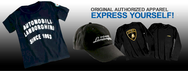 Original Lamborghini Clothing and Apparel