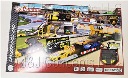 Majorette Large Lamborghini Race Set with cars