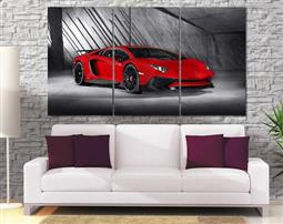Aventador canvas print 3 pieces 57 in by 32 in