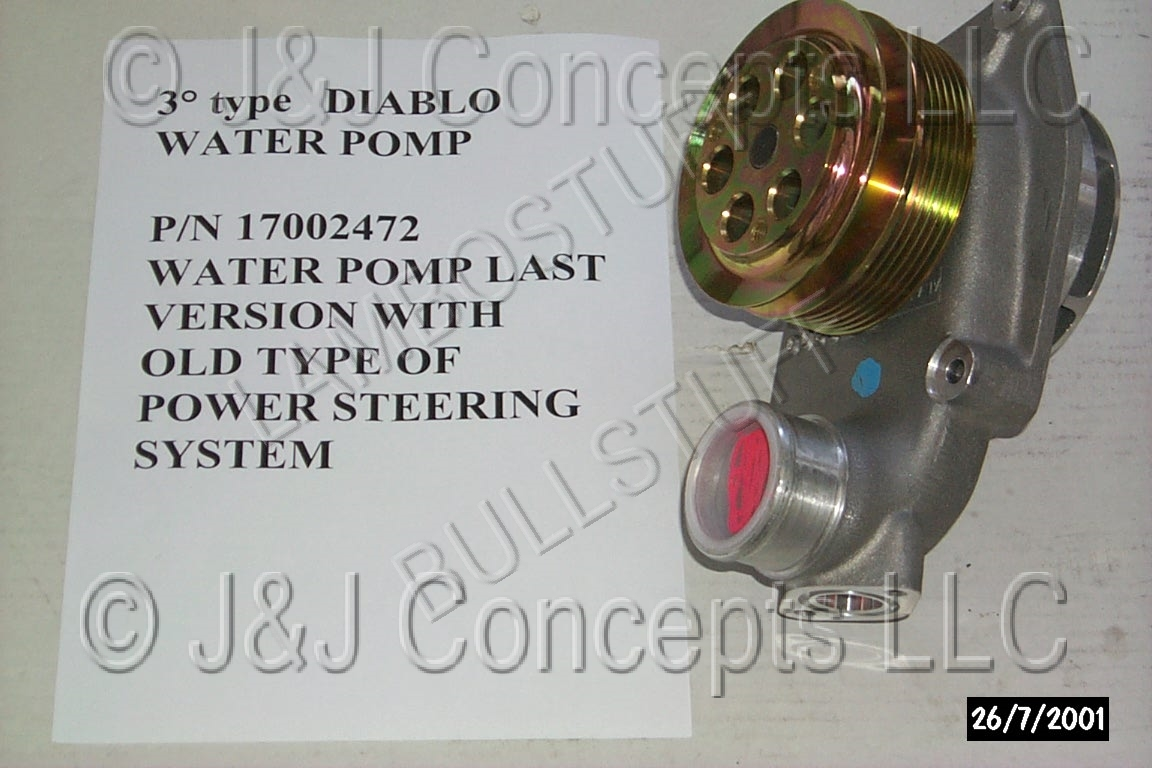 Water Pump (4WD With Power Steering) 1995 2001 - READ DESCRIPTION